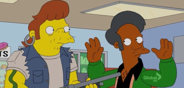 Schwebt Apu in Gefahr?