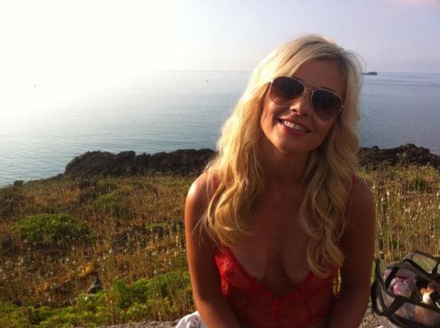 Victoria privat beim Playboy Shooting