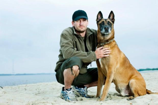 Robert Sedlatzek-Müller und sein Hund Idor (der 2013 verstarb)