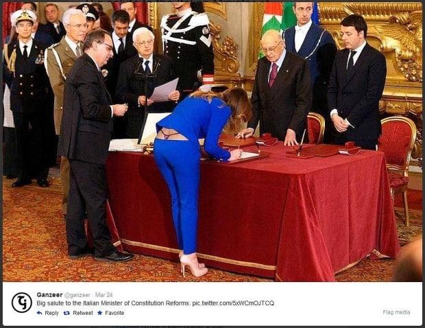 Wirbel um ein Foto der italienischen Ministerin Maria Elena Boschi
