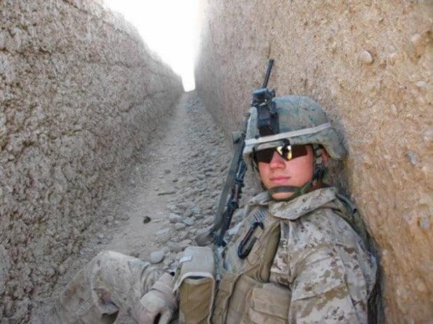 Kyle William Carpenter während seinem Afghanistan Einsatz