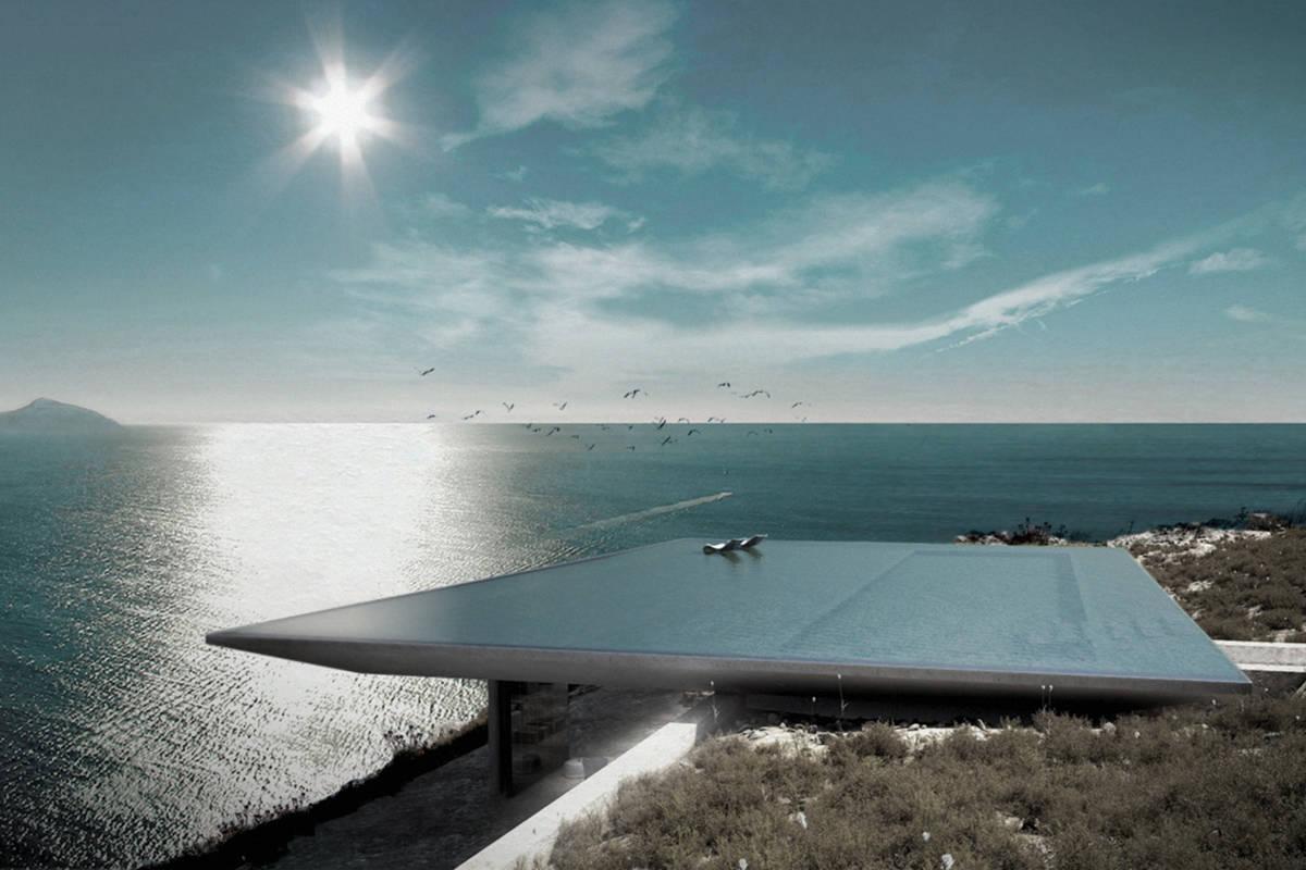 wohnen unter dem wohl spektakul rsten pool der welt. Black Bedroom Furniture Sets. Home Design Ideas