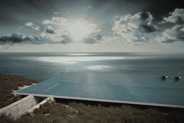 Wohnen unter dem wohl spektakulärsten Pool der Welt