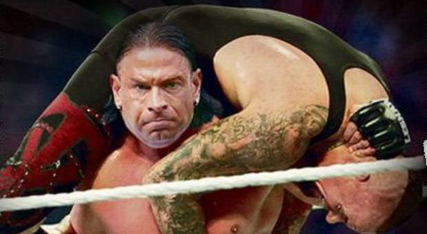 Fotomontage: Tim Wiese im Ring