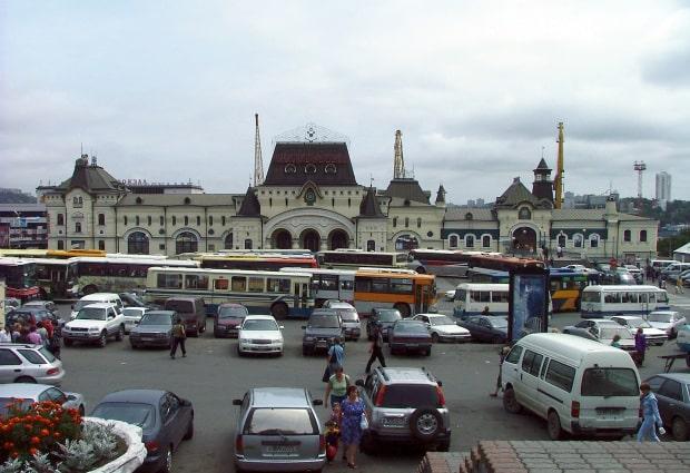 Die russische Endstation in Vladivostok