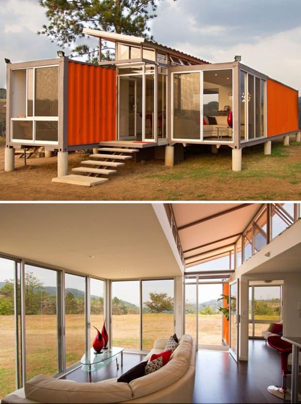modern und edel in einem container wohnen. Black Bedroom Furniture Sets. Home Design Ideas
