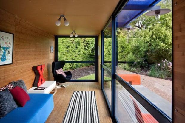 modern und edel in einem container wohnen menify. Black Bedroom Furniture Sets. Home Design Ideas