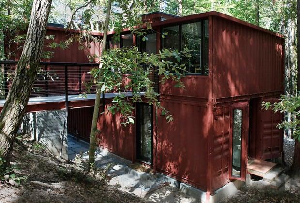 Modern wohnen im container