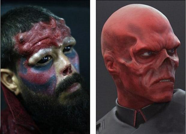 Für den Bösewicht Red Skull die Nase geopfert