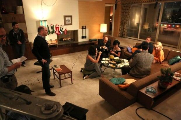 Mad Men / Matthew Weiner on set